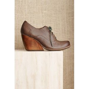 Kork-Ease Leather Oxford Wedges